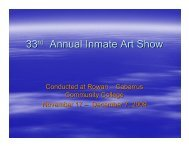 33 Annual Inmate Art Show