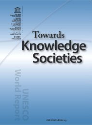 Towards Knowledge Societies