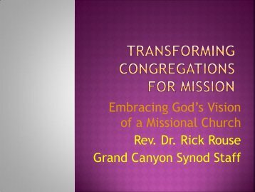 Transforming congregations