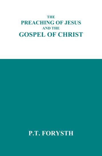 GOSPEL OF CHRIST P.T FORYSTH