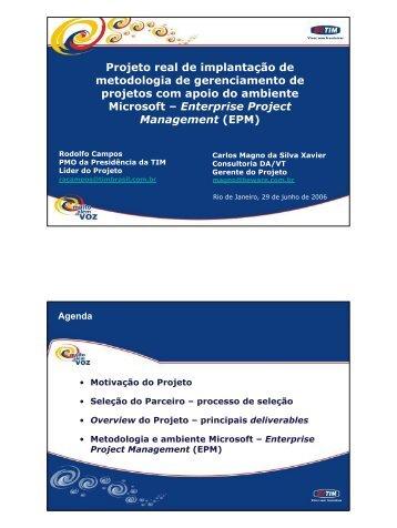 Projeto real de implantação de metodologia de ... - Beware.com.br