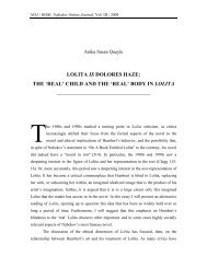 LOLITA IS DOLORES HAZE: THE 'REAL' CHILD AND THE 'REAL ...