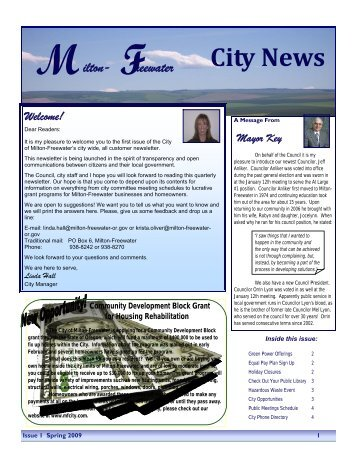 Spring 2009 - City of Milton-Freewater