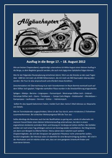 Ausflug in die Berge 17 – 18 August 2012