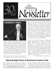 Opening Night Party at Brunswick Country Club - Coastal Symphony ...