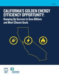 California's Golden Energy Efficiency Opportunity