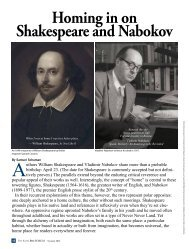 Homing in on Shakespeare and Nabokov - Phi Kappa Phi