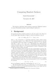 Computing Humbert Surfaces - ECHIDNA: Elliptic Curves and ...