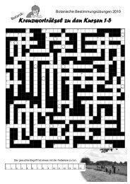 Kreuzworträtsel zu den Kursen 1-5