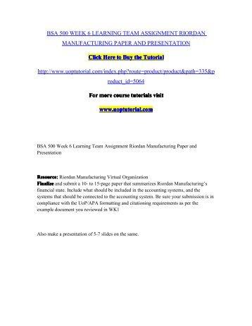 Virtual Organization Strategy Paper: Riordan Manufacturing Essay Sample