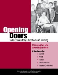 Opening Doors to Postsecondary Education and Training
