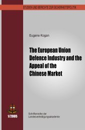 The European Union Defence Industry and the Chinese Market