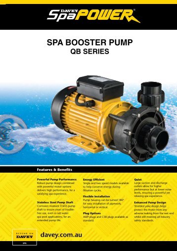 SPA BOOSTER PUMP