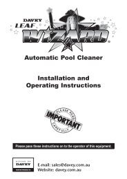Automatic Pool Cleaner Installation and Operating Instructions