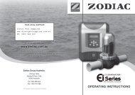 www.zodiac.com.au OPERATING INSTRUCTIONS