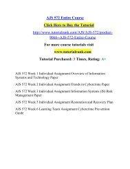 AJS 572 Entire Course/ Tutorialrank
