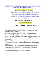 AJS 572 Week 3 Individual Assignment Information Systems (IS) Risk Management Paper.pdf