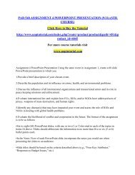 PAD 540 ASSIGNMENT 4 POWERPOINT PRESENTATION (911) (STR COURSE)/Uoptutorial
