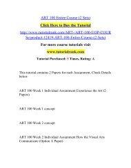 ART 100 Entire Course (2 Sets)/ Tutorialrank