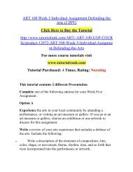 ART 100 Week 5 Individual Assignment Defending the Arts (2 PPT)/ Tutorialrank
