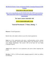 BCOM 426 Week 4 Team Assignment Media Campaign Proposal/ Tutorialrank