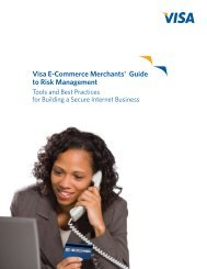 Visa E-Commerce Merchants' Guide to Risk Management