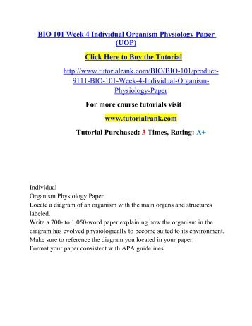 bio 101 week 4 dqs Read this essay on bio 100 complete class all weeks assignments, checkpoints and dqs  checkpoints and dqs week 1 assignment biology lab  ant 101 (introduction .