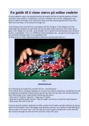 En guide til å vinne større på online roulette .pdf