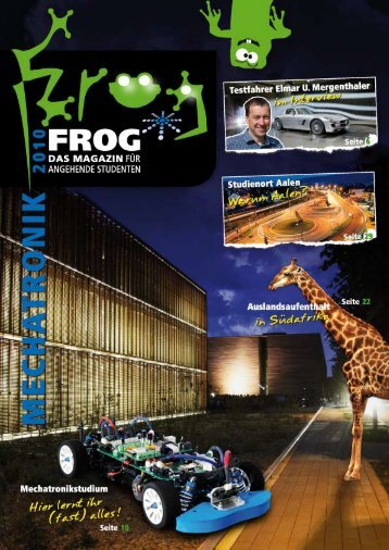FROG-Magazin Mechatronik - Hochschule Aalen