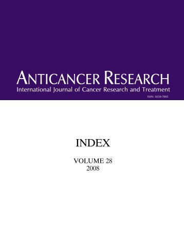 Index AR1 - Anticancer Research