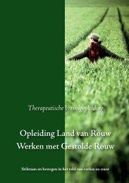 Opleiding Land van Rouw Werken met Gestolde Rouw
