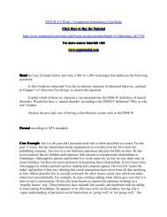 PSYCH 515 Week 1 Assignment Introductory Case Study/Uoptutorial