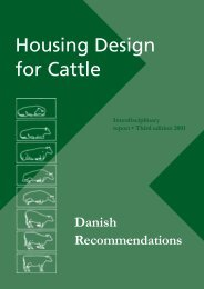 Housing Design for Cattle – Danish ... - LandbrugsInfo