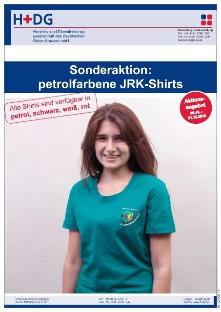 petrolfarbene JRK-Shirts - H+DG