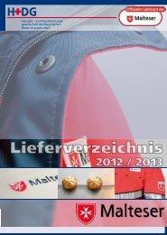 Malteser-Lieferverzeichnis 2012/2013 - H+DG
