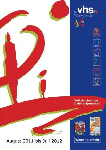 Zukunft - Volkshochschule Dahme-Spreewald