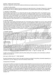 GENERAL TERMS AND CONDTITIONS these are our legal terms ...