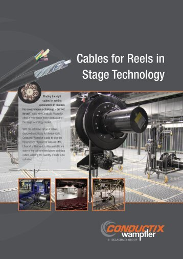 Cables for Reels in Stage Technology