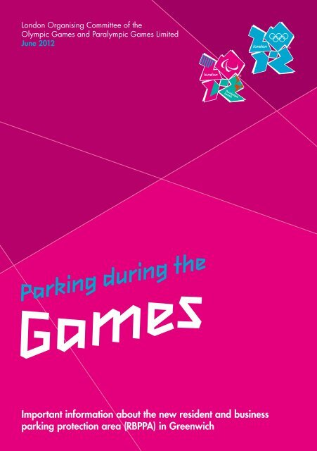 Games Parking during the - London 2012 Olympics