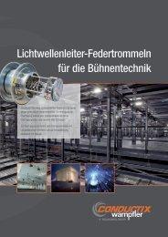 Lichtwellenleiter-Federtrommeln für die Bühnentechnik