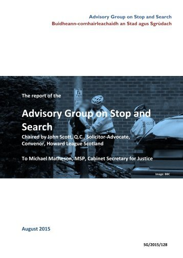 Advisory Group on Stop and Search
