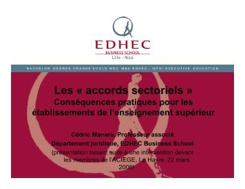 Les « accords sectoriels »