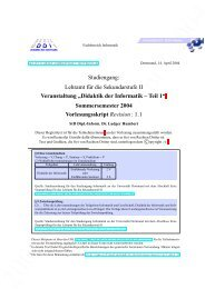 Didaktik der Informatik - Teil 1, Sommersemester 2004