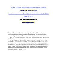 PSYCH 575 Week 3 Individual Assignment Historical Case Study/Uoptutorial