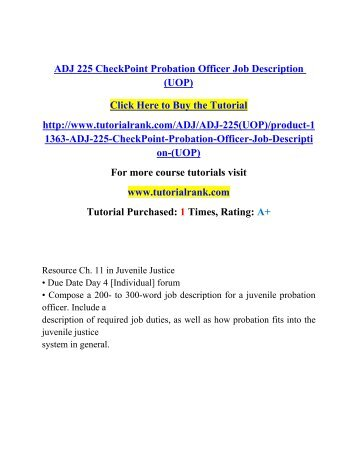 Best Probation Officer Job Description Contemporary - Best Resume