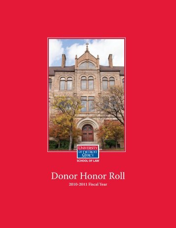 Donor Honor Roll - University of Detroit Mercy School of Law