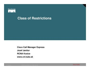 Class of Restrictions