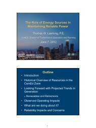 The Role of Energy Sources in Maintaining Reliable Power Outline