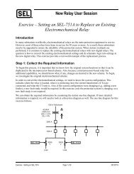 New Relay User Session Exercise – Setting an SEL ... - CacheFly