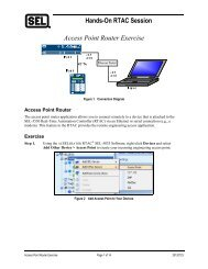Hands-On RTAC Session Access Point Router Exercise